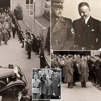 Never-before-seen photos of Edward VIII visiting Mercedes-Benz factory