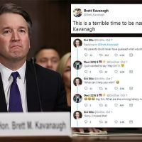 'It's a terrible time to be named Brett Kavanagh'