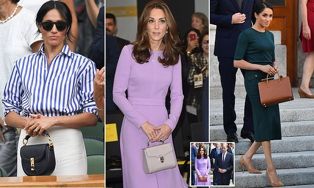 Kate swapped her usual clutch for the Meghan's favoured handbags