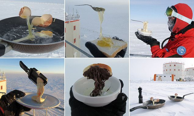 Incredible images of food flash frozen in MID AIR