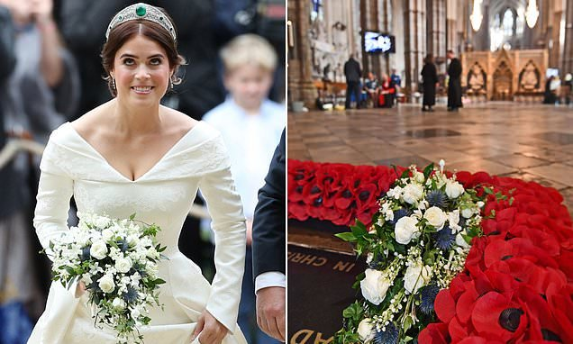 Princess Eugenie bouquet laid on Warrior's Grave at Westminster Abbey