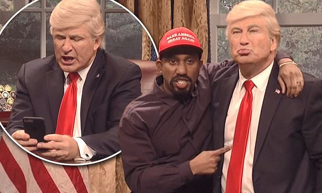 SNL opens with parody of Kanye West and Donald Trump's bizarre meeting