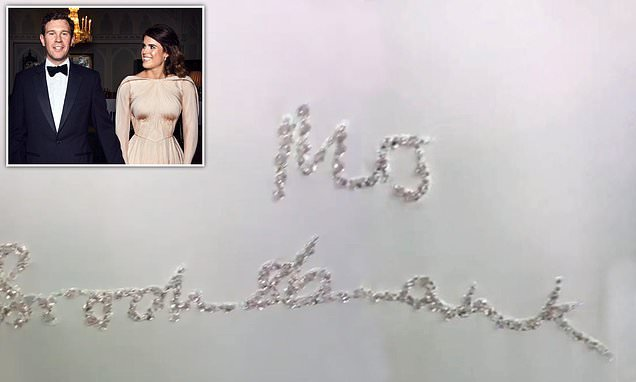 Eugenie wears personalised jacket on second day of wedding parties