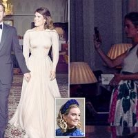 Did Cressida Bonas PHOTOBOMB Eugenie and Jack's wedding portrait?