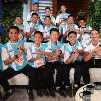 Thai cave boys hit the big time! Team and their coach appear on Ellen