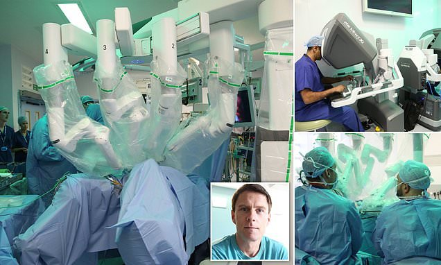 Four armed robot carries out major surgery in Britain for first time