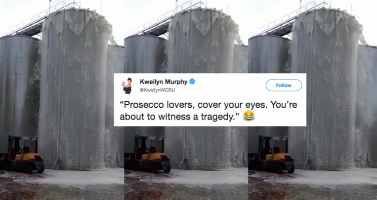 These Tweets About An Italian Winery Spilling 8,000 Gallons Of Prosecco Are So Relatable