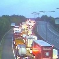 Five car pile-up brings M6 traffic to a standstill