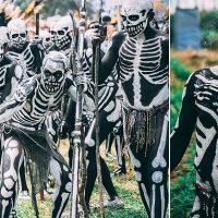 'Skeleton' tribe dress up as corpses to scare off their enemies