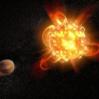 Hubble spots a SUPERFLARE erupting from red dwarf star