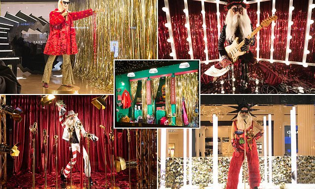 Selfridges becomes first to unveil rock-themed Christmas display