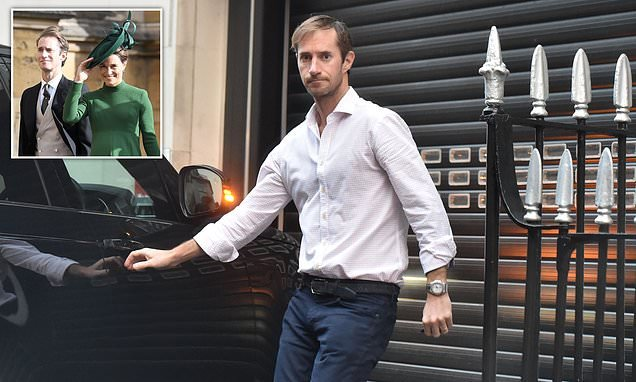 Pippa Middleton's husband James seen for first time since son's birth