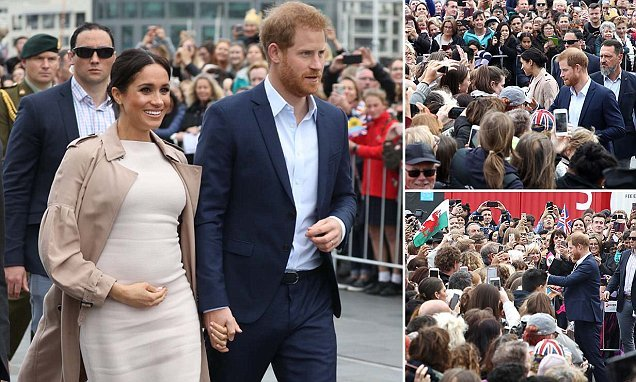 Meghan Markle brushes off aftershock fears as she greets fans