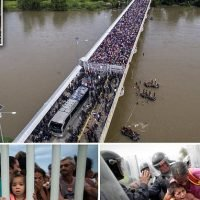 U.S. leans on Mexico to shut down caravan as thousands camp at border