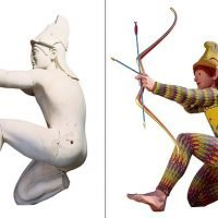 Ancient sculptures were COLOURED and not whitewashed pieces of art