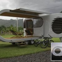 The £270k trailer that extends and rotates to reveal a party deck