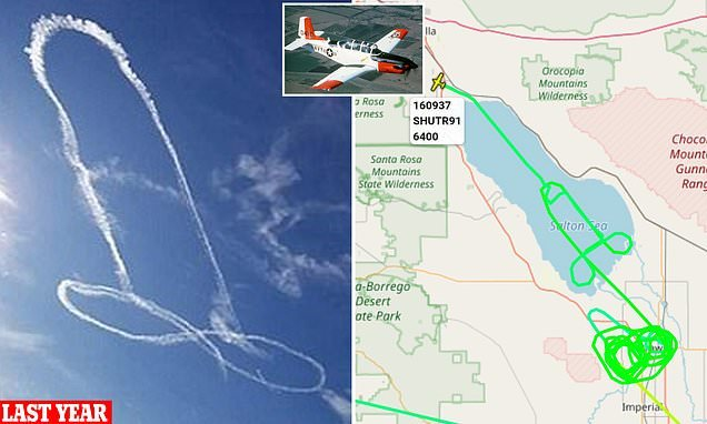 US marine pilot draws a penis in the sky