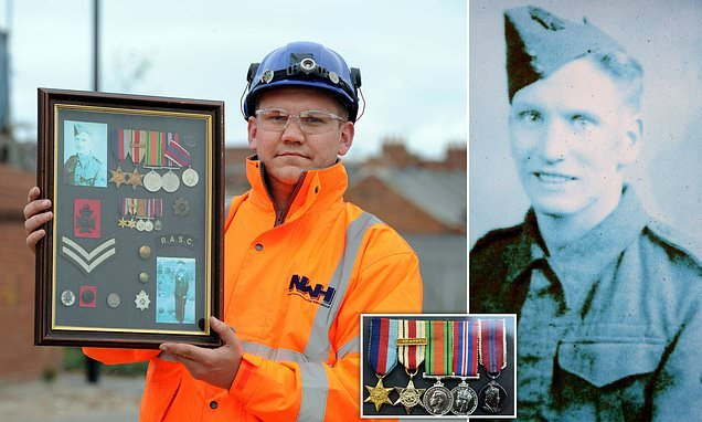 Refuse worker discovered soldier's World War Two medals in a skip