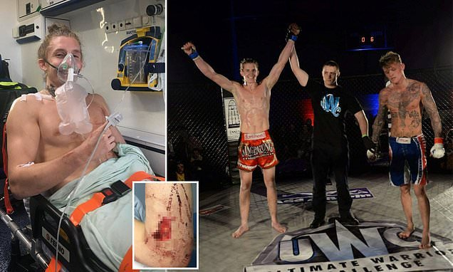 Trained fighter, 22, took on EIGHT knife wielding robbers