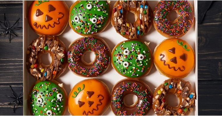 Krispy Kreme Just Dropped 2 New Halloween Doughnuts, and One's Filled With Cake Batter!