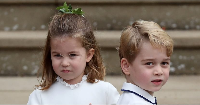 Prince George and Princess Charlotte Made a Hilarious Entrance to Eugenie's Wedding