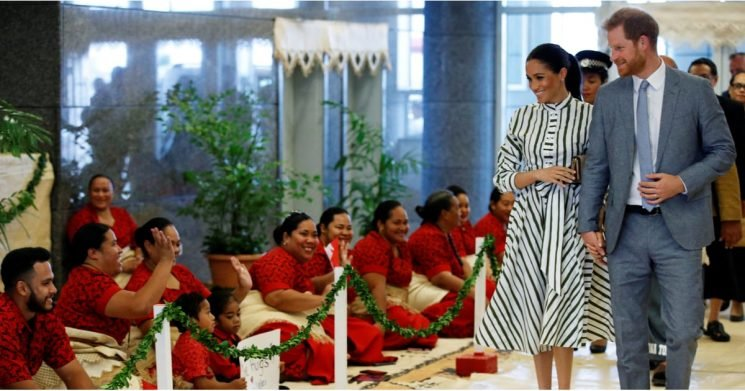 Meghan Markle's Striped Dress Looks a Lot Like the Polished Day Dress of Our Dreams