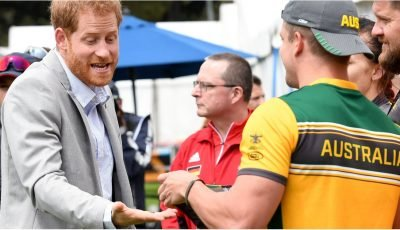 Prince Harry Was Given Some Tiny Swim Trunks, and You Better Believe He Tried Them On