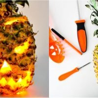 Ditch the Pumpkin and Carve a Spooky Pineapple Jack-o'-Lantern Instead — Get the DIY