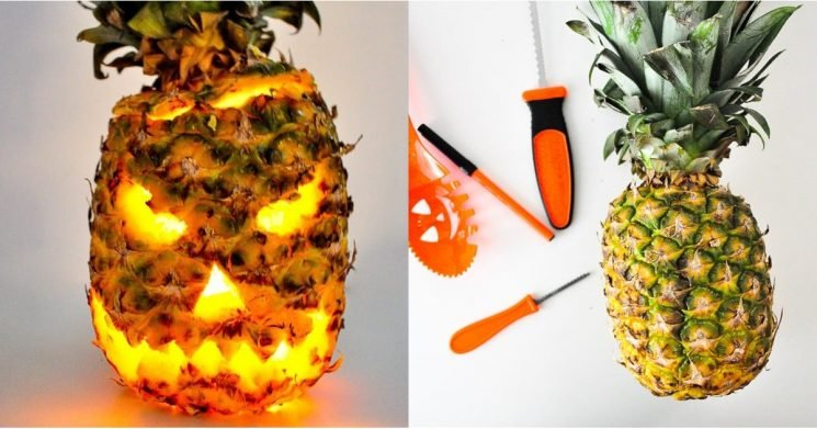 Ditch the Pumpkin and Carve a Spooky Pineapple Jack-o'-Lantern Instead —Get the DIY