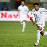 Teenager Sancho impresses England teammates in brief debut
