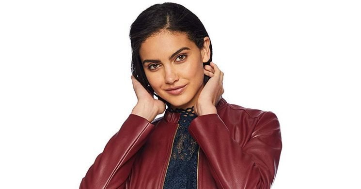 Add a Splash of Color to Your Leather Jacket Collection With This Ruby Number
