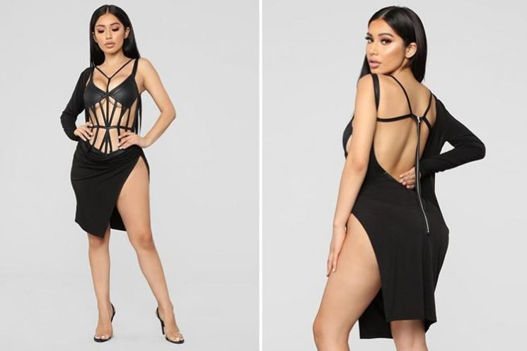 This Fashion Nova dress takes underboob to a whole new level… but would you dare to wear it?