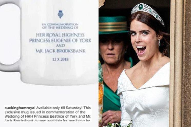 Royal souvenir shop makes massive gaffe when promoting Princess Eugenie wedding mugs – can you spot it?