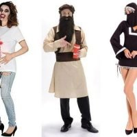 Halloween costumes including zombie baby bursting out of mum-to-be, Taliban terrorist and 'psycho' patients being sold online
