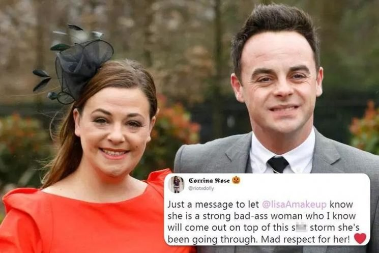 Lisa Armstrong likes tweet vowing she'll 'come out on top of this sh*t storm' after divorcing Ant McPartlin over his adultery