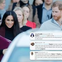 Meghan Markle pregnant! Fans flood Twitter to claim Duchess is expecting after she covers stomach in Sydney – hours before couple confirm they ARE having a baby