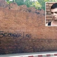Brit tourist facing TEN YEARS in jail for spraying misspelt graffiti 'Scousse Lee' on Thailand's Chiang Mai fortress admits he's been 'very stupid'