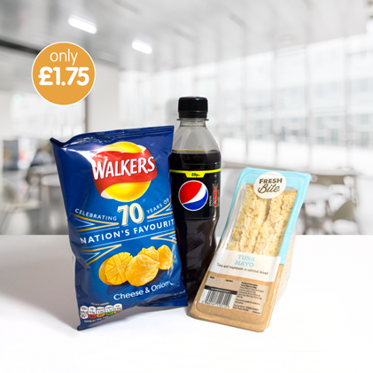 B&M is selling a meal deal for £1.75 and you get a sandwich, snack and a drink