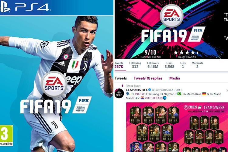 Cristiano Ronaldo 'vanishes' from Fifa19 social media branding as EA Sports appears to distance itself from cover star after rape claims