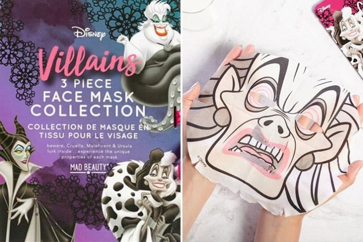 You can now facemasks of Disney VILLAINS and we have a new favourite character