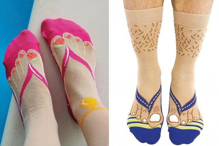 You can now buy flip-flop socks so you can pretend it's summer all year round