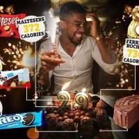 The staggering number of calories in Anthony Joshua's 29th birthday cake covered in Maltesers, Ferrero Rocher and Oreos
