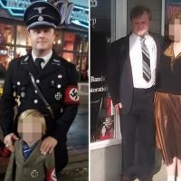 Dad apologises for dressing himself and son, 5, in Nazi Halloween outfits after costume complaint goes viral
