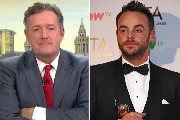 Piers Morgan says Ant McPartlin will still win a National Television Award – despite 'not doing a shred of work for a whole year'