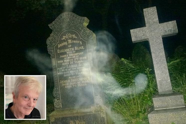 Spooky photo claims to show GHOST of dead woman hovering over her own grave
