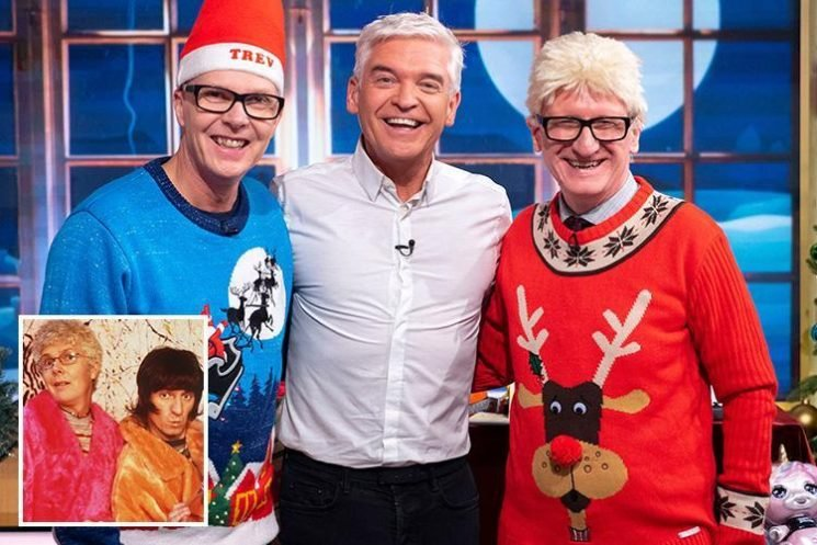 This Morning fans go wild as Going Live's Trevor and Simon reunite with Phillip Schofield for performance of Swing Your Pants