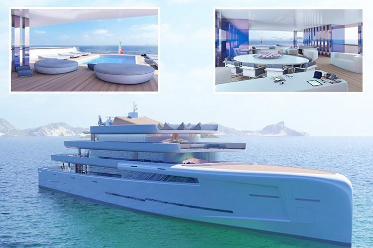 This 'invisible' £200m Mirage superyacht is covered in mirrors so it VANISHES in the sea