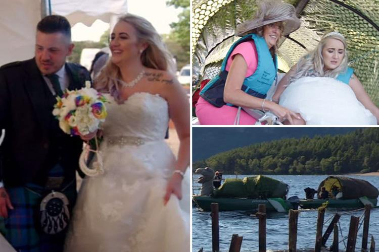 Don't Tell The Bride fans left horrified by groom's Loch Ness monster wedding… in the middle of the LAKE