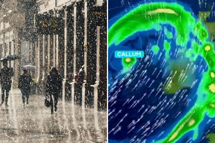 UK lashed with week's worth of rain in just one HOUR as Storm Callum set to strike TOMORROW