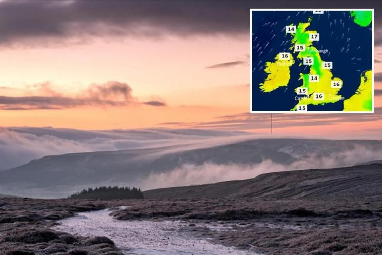 UK weather forecast: Britain to enjoy one last warm weekend before SNOW hits part of the UK